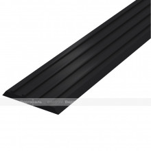 Лента тактильная направляющая, ВхШхГ 3х29х1000, материал - ПВХ, черного цвета
