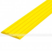 Лента тактильная направляющая, ВхШхГ 3х29х1000, материал - ПВХ, желтого цвета