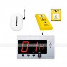 Комплект системы вызова помощи ТИФЛОВЫЗОВ ПС-1099 с антивандальной и тактильно-сенсорной кнопкой желтого цвета
