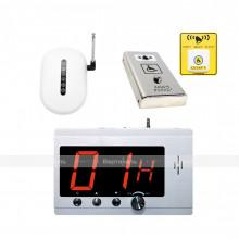 Комплект системы вызова помощи ТИФЛОВЫЗОВ ПС-1099 с антивандальной кнопкой из нержавеющей стали и тактильно-сенсорной кнопкой желтого цвета