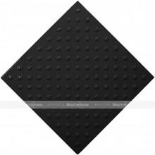 Плитка тактильная (непреодолимое препятствие, конусы шахматные) 500х500х4, ПУ, черный