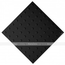 Плитка тактильная (преодолимое препятствие, поле внимания, конусы линейные) 500х500х4, ПУ, черный