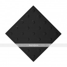 Плитка тактильная (преодолимое препятствие, поле внимания, конусы линейные) 300х300х4, ПУ, черный, самоклей