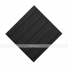 Плитка тактильная (направление движения, полоса) 300х300х4, ПУ, черный