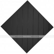 Плитка тактильная (смена направления движения, диагональ) 500х500х4, ПУ, черный