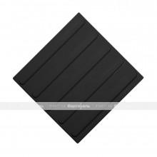 Плитка тактильная (направление движения, полоса) 300х300х4, ПУ, черный, самоклей