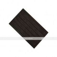 Плитка тактильная (направление движения, зона получения услуг) 180х300х4, ПУ, черный, самоклей