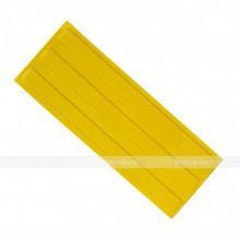 Плитка тактильная (направление движения, зона получения услуг) 180х500х4, ПУ, жёлтый, самоклей