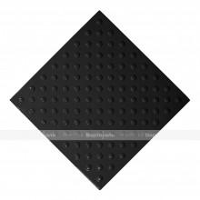 Плитка тактильная (непреодолимое препятствие, конусы шахматные) 500x500x4, ПУ, черный, самоклей