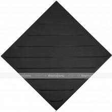 Плитка тактильная (смена направления движения, диагональ) 500x500x4, ПУ, черный, самоклей