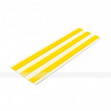 Лента тактильная направляющая, ВхШ 4х180, материал-ПУ, 3 желтые полосы на белой основе, самоклеящаяся
