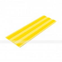 Лента тактильная направляющая, ВхШ 4х180, материал-ПУ, 3 желтые полосы на желтой основе, самоклеящаяся