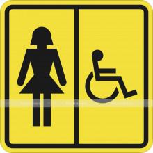 Пиктограмма СП-06 Туалет для инвалидов (Ж). 150 x 150мм